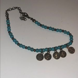 Jewelry - turquoise Persian bracelet/anklet